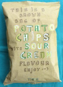Flying Tiger sour cream chips, vegan