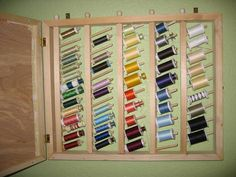 Outside is a memo board, inside thread storage!