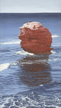 The Rock at Sea View Beach PEI - Acrylic Painting by Susan Christensen Canadian Artists, The Rock, Note Cards, Art Gallery, Waves, Sea, Studio, Illustration, Prints