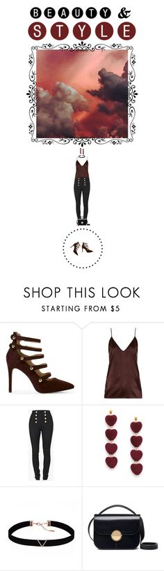 """There's a storm raging in my heart!"" by tiffyg2133 on Polyvore featuring Raey, Balmain, Astrid & Miyu, Marni and Skagen"