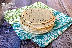 Paleo Tortillas Recipe with blanched almond flour, tapioca flour, sea salt, mild olive oil, warm water