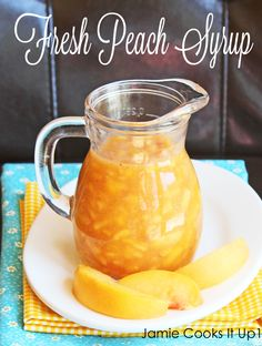 Fresh & Easy Peach Syrup (BTW, did you know you can can in the oven? Only waterbath items, not pressure cooked foods. Leave your oven on at warm (170) then load your oven, jars not touching, turn up to 250, for 80 minutes. Voila. Thanks to Connie at Dusty, WA four star for this handy time saving tip!!!)