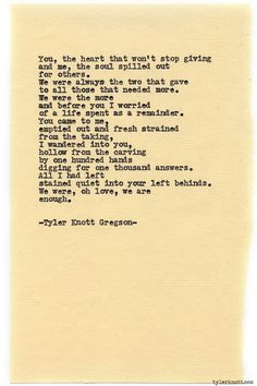 Typewriter Series #811 by Tyler Knott Gregson *Congratulations Raven  Kyle!  Thank you so much for letting us be a part of your day!*