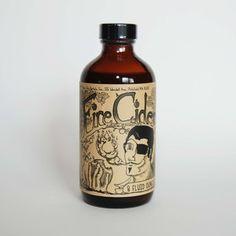 Fire Cider, apple cider tonic