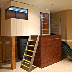 Kids Photos Indoor Playhouse Design Ideas, Pictures, Remodel, and Decor