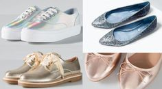 Shiny and metallic shoes are set to be big in 2016 Metallic Shoes, Latest Shoe Trends, 2016 Trends, Spring Has Sprung, Fashion Advice, Winter Outfits, Fashion Shoes, Footwear, Big