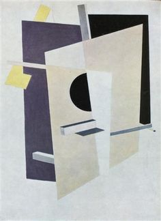 Proun Interpenetrating Planes - El Lissitzky, 1919-20.