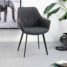 Kave Home Eetkamerstoel 'Amira', kleur zwart Accent Chairs, Dining Chairs, Sweet Home, New Homes, Room Decor, Sofa, Interior, Inspiration, Furniture