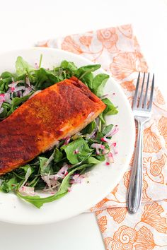 Easy Broiled Curry Salmon Recipe. Paleo, gluten-free, and perfect for anti-inflammatory diets.