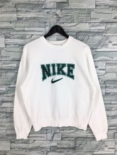 nike sweatshirts Excited to share the latest addition to my shop: Vintage Nike Sweatshirt Pullover White Medium Nike Swoosh Streetwear Sportswear Jumper Nike Air Sports Crewneck Sweater Size M Cute Lazy Outfits, Retro Outfits, Trendy Outfits, Vintage Outfits, Cute Nike Outfits, Fall Outfits, Sweatshirt Outfit, Vintage Nike Sweatshirt, Sweatshirts Vintage
