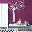 Maybe I could handle a bright pink wall with a black or white vinyl like this!