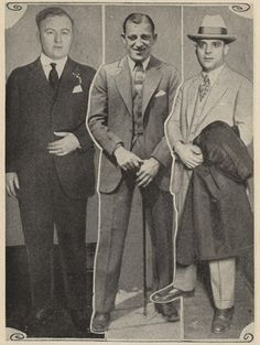Dean O''Banion, Hymie Weiss, and Joe Aiello were all North Side gangsters who lost their battle with Al Capone, c. 1920s.