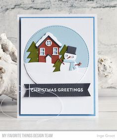 Stamps: Snow Globe Sentiments Die-namics: Scenic Snow Globe, Stitched Circle STAX, A2 Rectangle STAX Set1  Inge Groot #mftstamps