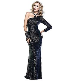 OMG! New Years?!  Scala OneShoulder Gown @ Dillards