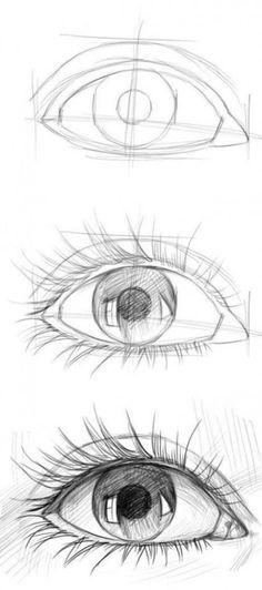 20 Amazing Eye Drawing Tutorials & Ideas – Brighter Craft - drawing tips Cool Art Drawings, Pencil Art Drawings, Easy Drawings, Drawing Sketches, Eye Sketch, Drawing Faces, Drawing Drawing, Drawings Of Eyes, Amazing Drawings