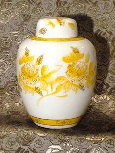 Vintage Japanese Floral Ginger Jar by CoCoBlueTreasures on Etsy
