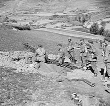 75 mm Howitzer of the 1st Airlanding Light Artillery Regiment in action in Italy.