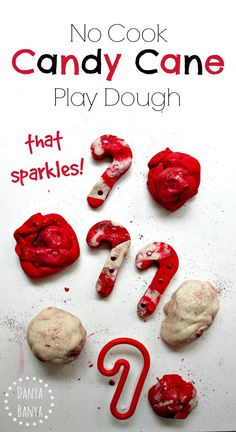 Cook Candy Cane Play Dough that sparkles! Great for Christmas-themed ...
