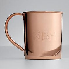 Cheers! The traditional way to serve up the classic Moscow Mule vodka cocktail, this mug's personalization will ensure that no one makes off with someone else's drink.