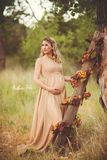Marissa Gown • Long Flowing Sheer Chiffon Straight Top Maternity Gown – Sew Trendy Accessories