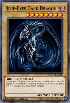 """12 Most Beautiful Yugioh Card Andrew Rannells has been nominated for two Tony Awards. He starred in HBO's """"Girls."""" And you can see him in """"Black Monday"""" on Showtime. But afore any of that, Yu Gi Oh, Yugioh Dragon Cards, Yugioh Dragons, Custom Yugioh Cards, Custom Cards, Dark Blue Eyes, Yugioh Monsters, Legendary Dragons, Monster Cards"""