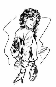 Wonder Woman Sketch by SPIDERLAL on DeviantArt