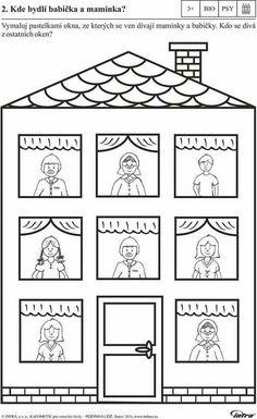 Paper House with Opening Doors Preschool Family Theme, Preschool Writing, Family Crafts, Preschool Worksheets, Preschool Activities, Kindergarten Names, Craft Work For Kids, Winter Crafts For Kids, All About Me Activities
