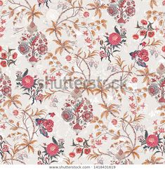 Pattern Illustration, Botanical Art, Digital Pattern, Flower Prints, Print Patterns, Digital Prints, Royalty Free Stock Photos, Textiles, Floral