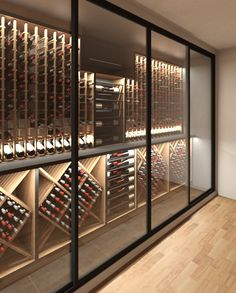 Wine drinking and grape growing Glass Wine Cellar, Home Wine Cellars, Wine Cellar Design, Wine Cellar Modern, Sparkling Wine Glasses, Wine Advertising, Wine Cellar Basement, Wine Rack Storage, Home Bar Designs