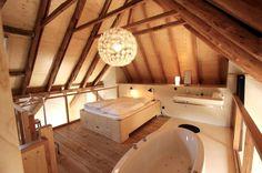 home spa in the attic