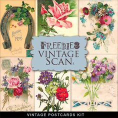 New Freebies Vintage Kit