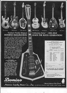 Back Catalog Memories: Vintage Domino Spartan Electric Guitar | MyRareGuitars.com