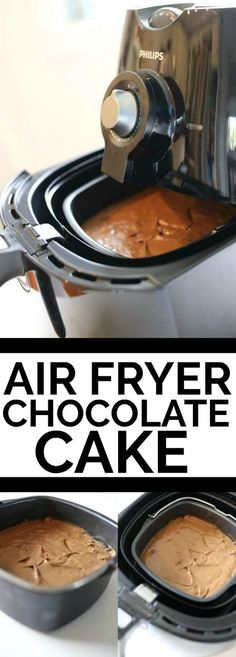 air fryer chocolate cake recipe – the best way to make a chocolate cake in an air fryer. this is so moist and delicious air fryer chocolate cake recipe – the best way to make a chocolate cake in an air fryer. this is so moist and delicious Air Fryer Cake Recipes, Air Fryer Oven Recipes, Air Fryer Dinner Recipes, Phillips Air Fryer, Air Flyer, Air Fried Food, Best Air Fryers, Air Fryer Healthy, Air Frying