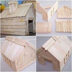 Ice cream stick house