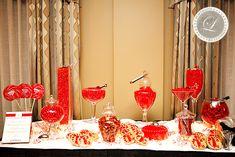 Candy bar mariage en rouge