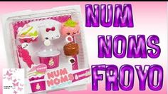Num Noms series 4 froyo, This pack will be available at Menchie's in the US and then at Toys R Us in the US. The other 4 packs from series 4 are teal at the bottom. #numnoms