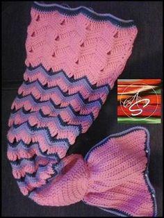 Mermaid Tail Crochet Blanket