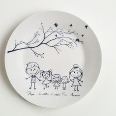 Illustrated porcelain plate for the kitchen / painted plate made by JU-Gr … – POTTERY Painting Pottery Plates, Painted Ceramic Plates, Pottery Painting Designs, Pottery Designs, Hand Painted Ceramics, Ceramic Painting, Ceramic Pottery, Pottery Art, Ceramic Art