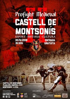 II PRO FIGHT MEDIEVAL CASTELL DE MONTSONÍS Medieval, Movie Posters, Movies, Poster, History, Film Poster, Films, Mid Century, Movie
