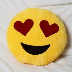 Bed Home Office Car Emoji Smiley Smile Emoticon Yellow Round Cushion Pillow Stuffed Plush Doll Soft Smileys, Car Emoji, Emoji Love, Heart Pillow, Cute Pillows, Christmas Wishes, Christmas 2015, Mellow Yellow, My New Room