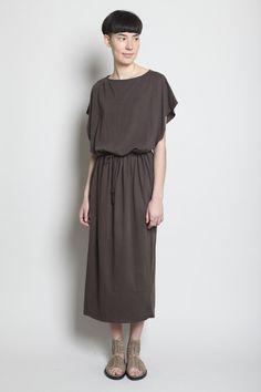 Black Crane Long Dress - 106 USD