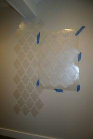 No. 29 design: Wall stencil tutorial...