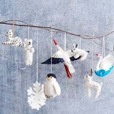 west elm offers a wide selection of unique & modern gifts, making it easy to find something for everyone. Browse home décor gifts, travel gifts and more. Sequin Ornaments, Felt Ornaments, Christmas Ornaments, Penguins And Polar Bears, Stork, Travel Gifts, Felt Animals, Inspirational Gifts, Blue Bird