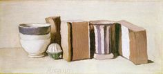 Giorgio Morandi - Still Life (cups and boxes), 1951, Oil on canvas