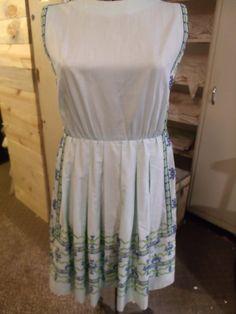 Vtg Cotton Summer Dress Light Blue Cotton by TeresasTreasuresEtc