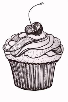 Image result for cupcake drawing