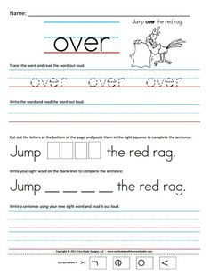 First Grade Sight Words Printable | Free Homeschool Worksheets: First Grade Sight Word Sentences