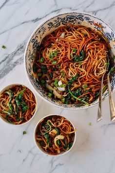 15-Minute Lazy Noodles, by thewoksoflife.com