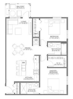 The Assiniboine Floorplan Small Tiny House, Small House Plans, House Floor Plans, Little Cabin, Little Houses, Treehouse Living, Small Cottages, Small Room Design, House With Porch