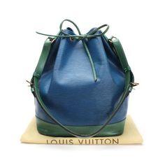becaff927757 Louis Vuitton Noe Epi Shoulder bags Blue Leather M44044